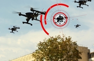 Image showing drone being targeted