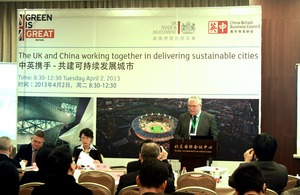 UK-China working together in delivering sustainable cities