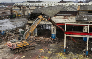 Demolition being carried out at Washwood Heath