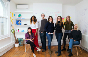 Quin's Cyndi Williams, Isabella Degen and team in their offices in London.