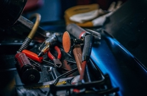 Toolbox and selection of trade tools