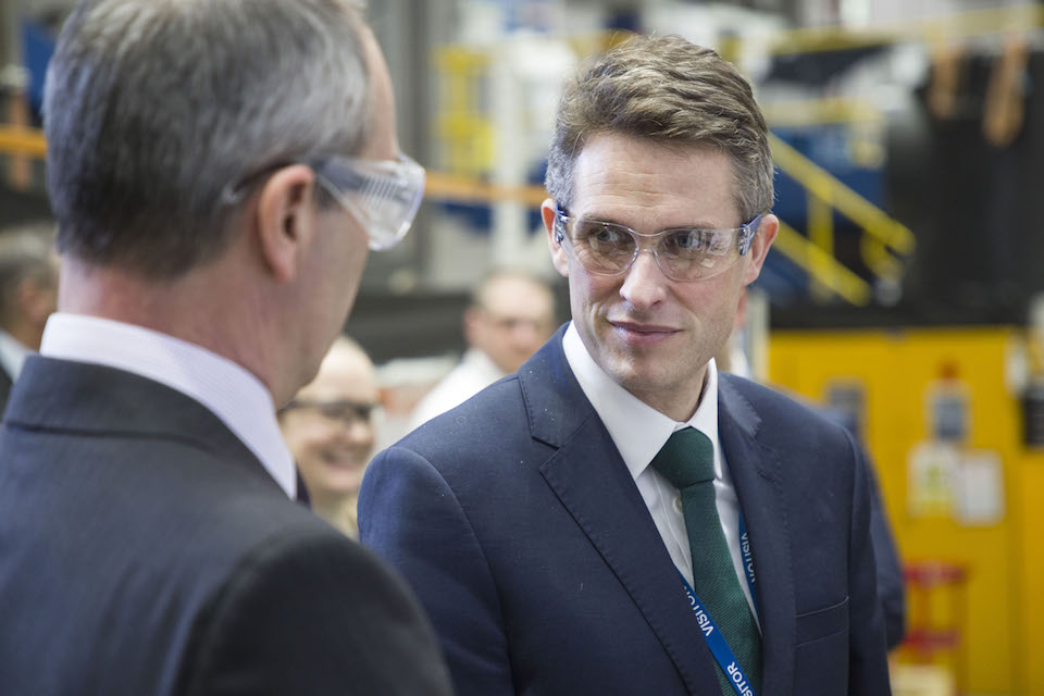 Defence Secretary visits Roll Royce