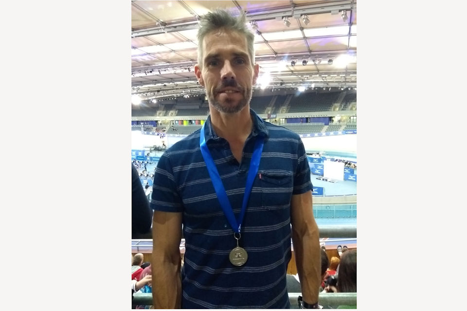 Police Sergeant Simon Amery won silver in the British indoor rowing championships