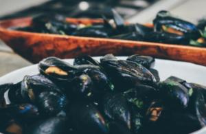 A plate of shellfish