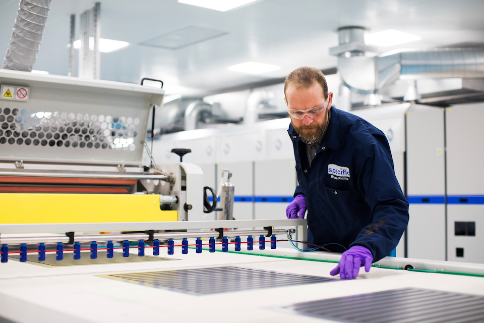 Quality control at the SPECIFIC Pilot Manufacturing Lab, Port Talbot, Wales.