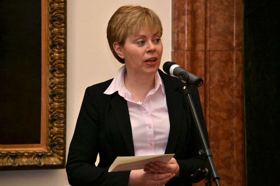 Patron of the 90 decibel Project, Deputy Head of Mission Theresa Bubbear