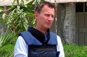 Foreign Secretart Jeremy Hunt visits Aden, Yemen