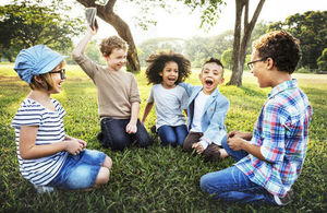 Image of children in nature