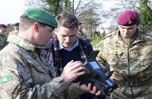 Defence Secretary visits Colchester
