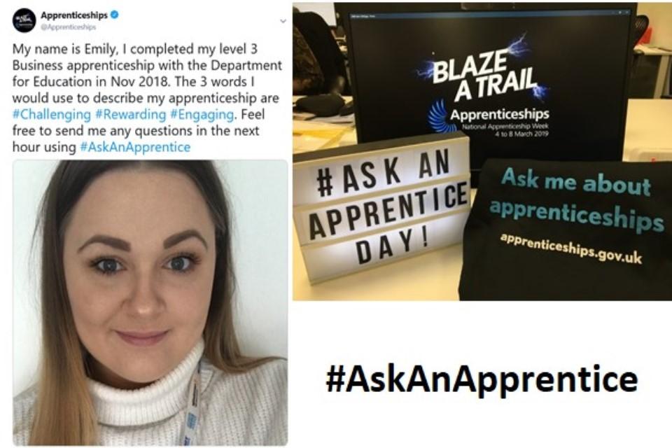 Image of Twitter coverage of #AskAnApprentice