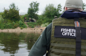 Environment Agency fisheries bailiffs in action