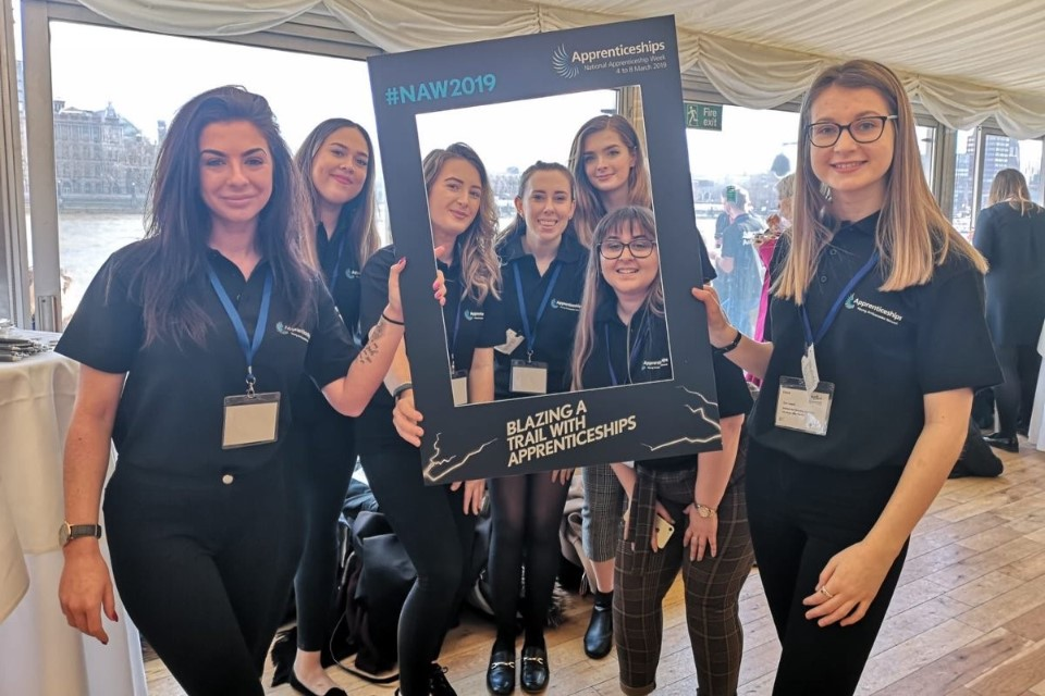 Image of attendees at the Apprenticeships, Skills and Careers event.