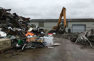 Piles of waste at an illegal site in Brigg