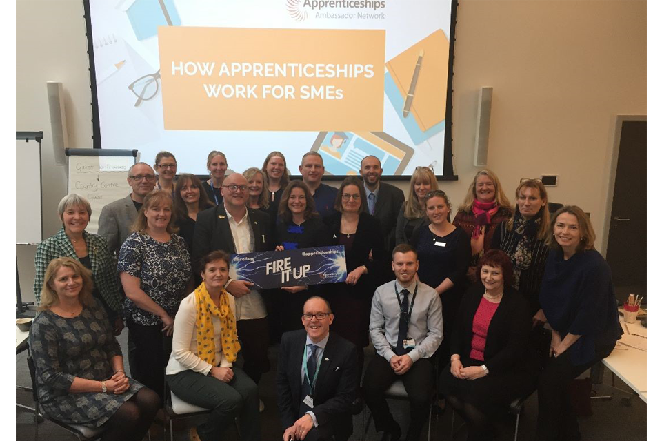 'How apprenticeships work for SMEs' event in Chichester.