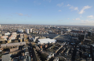 Aerial image of HS2 Euston works.