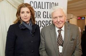 Penny Mordaunt and Sir David Attenborough