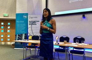 Guest speaker, Nadia Nagamootoo, specialises in gender equality