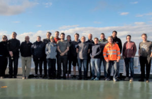 The scientists of Discovery Expedition 100 assemble in the Falkland Islands ready for the expedition to begin