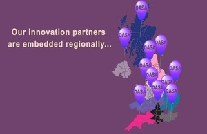 Map depicting locations of Innovation Partners