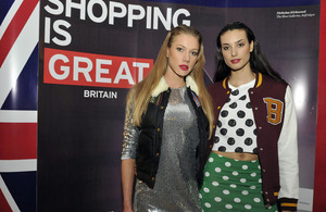 Models at Fashion is GREAT event