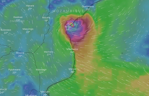Graphic: Cyclone Idai approaching Mozambique
