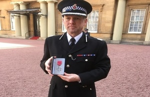CNC Police Officer receives MBE