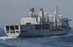 Royal Fleet Auxiliary (RFA) Fort Victoria [Picture: Crown copyright 2013]