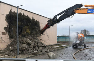 Demolition work at RAF Lakenheath Photo: US Air Force. All rights reserved.