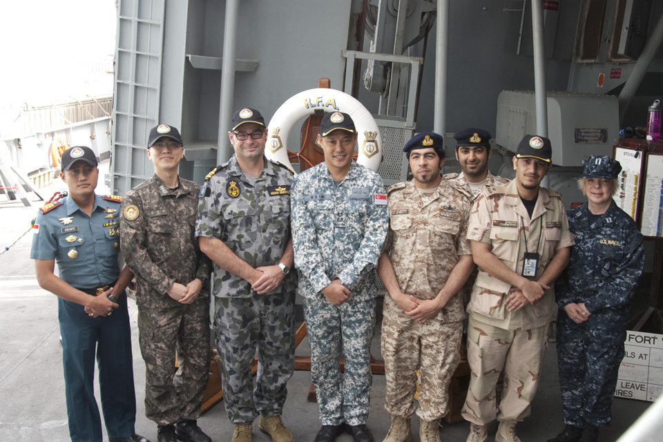 International members of the Combined Task Force 151