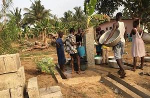 Residents using SCL Water's water pump