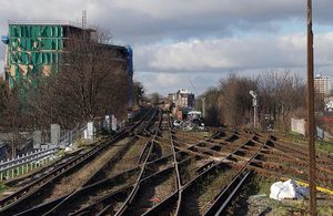 View from Lewisham station towards London (Photo by Matt Buck on Wikimedia Commons. Used under Creative Commons).