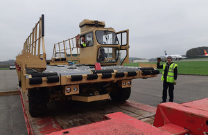 Cargo handling equipment being sent to Mozambique by UK aid. Picture: DFID/Harriet Doughty