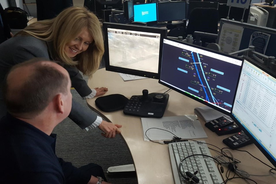 Esther McVey visiting control centre