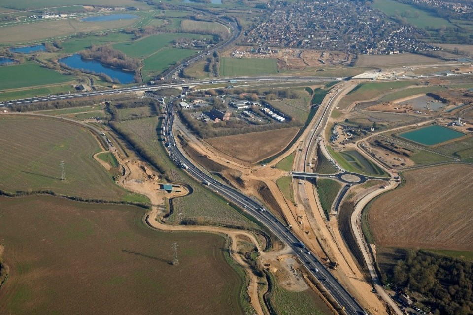 The A1/A14 Brampton junction