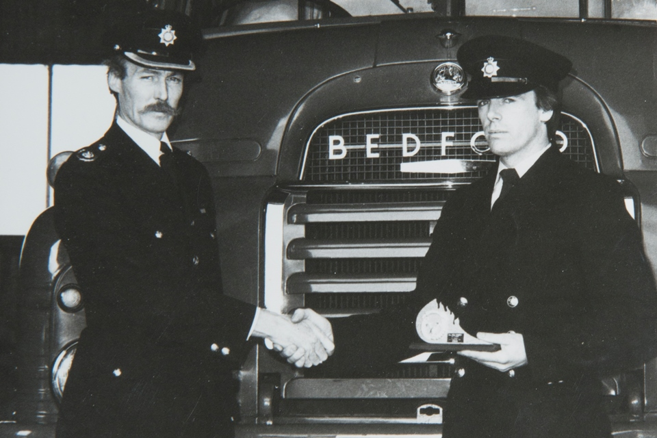 Taff in his early years as a firefighter