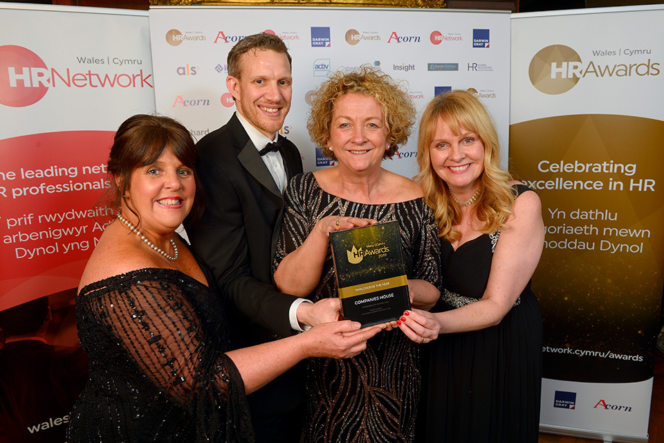 Companies House HR team and CEO Louise at the awards ceremony.