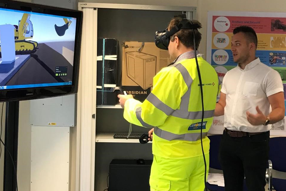 A virtual reality training session in action