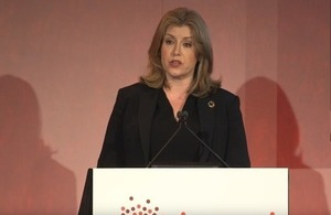 Penny Mordaunt addressing the Bond conference