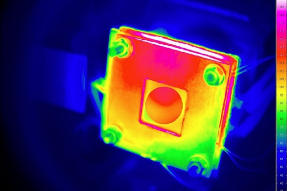 Heatmap of fuel cladding sample
