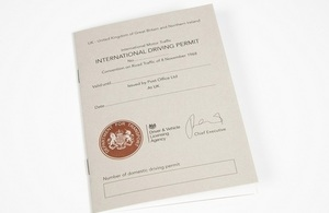 Image of an International Driving Permit