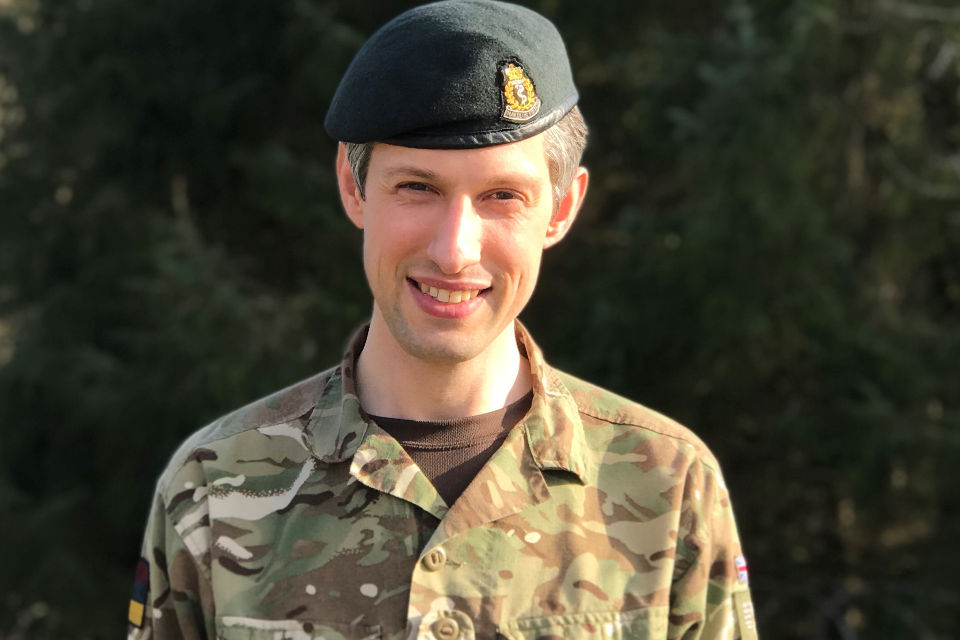 Major Claydon, Army Medical Officer. MOD Crown Copyright.