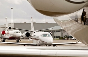 Photo of private jets at RAF Northolt airport