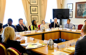 Jeremy Wright chairing round table