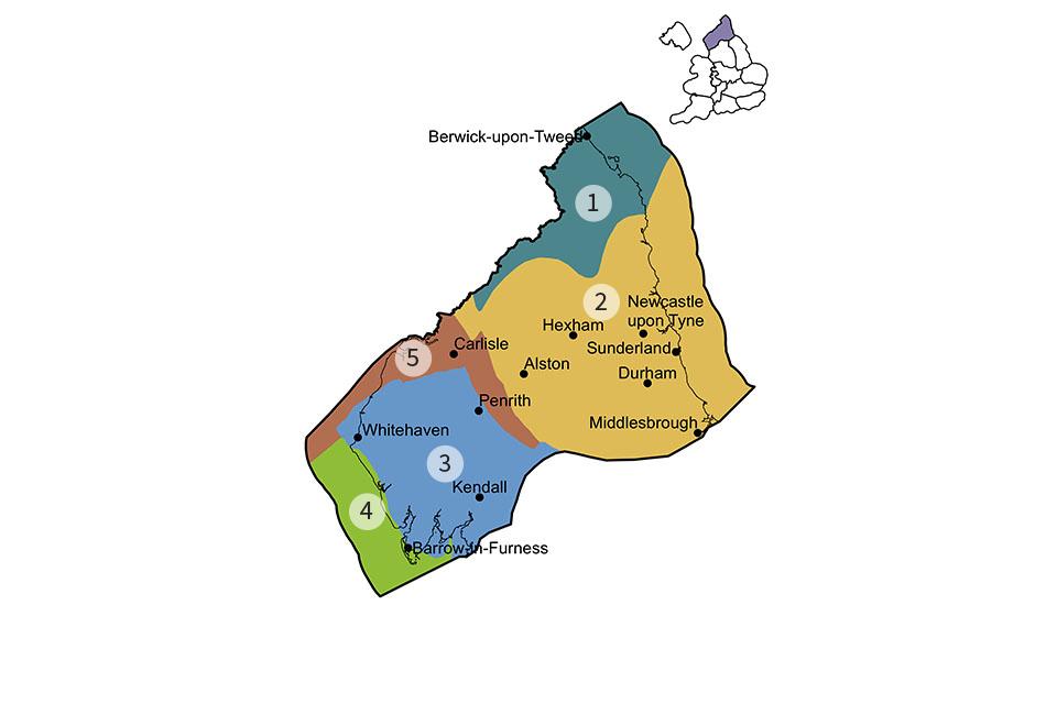 Northern England region