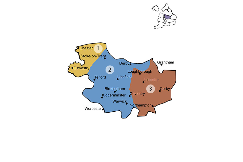 Central England region