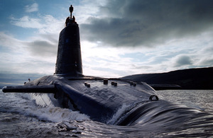 HMS Victorious in the Clyde estuary (stock image) [Picture: Leading Airman (Photographer) Mez Merrill, Crown copyright]