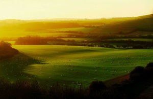 A picture of the England's countryside