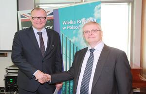 Minister Andrzej Massel and Ambassador Robin Barnett