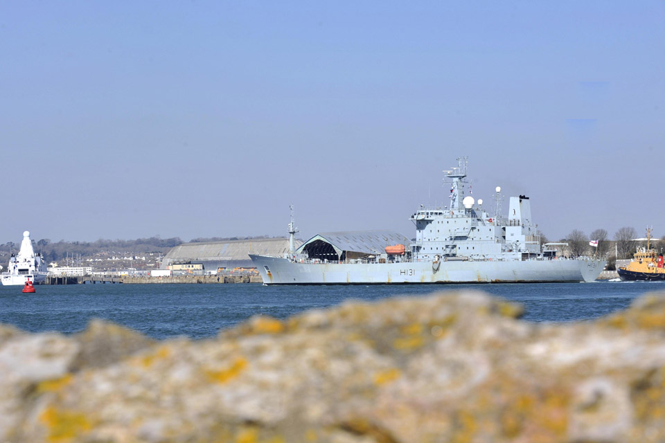 HMS Scott in Plymouth