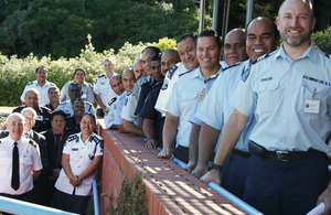 Final photo of all Pacific Police Officers attending the leadership course in New Zealand